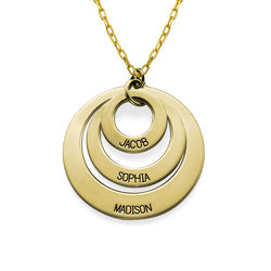 Jewellery for Mums - Three Disc Necklace in 10ct Gold product photo