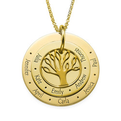 Family Tree Necklace for Mums - 18ct Gold Plated product photo