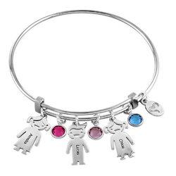 Bangle Bracelet with Kids Charms product photo