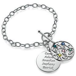 Sterling Silver Filigree Tree of Life Bracelet product photo