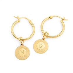 Odeion Initial Earrings in Vermeil product photo