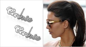 Name Stud Earrings Kim Kardashian