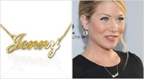 Name Necklace Christina Applegate
