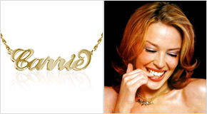 Name Necklace Kylie Minogue
