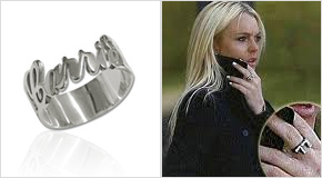 Silver Cut Out Ring Lindsay Lohan