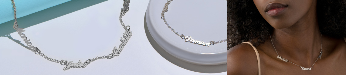 Personalised Silver Necklaces & Jewellery