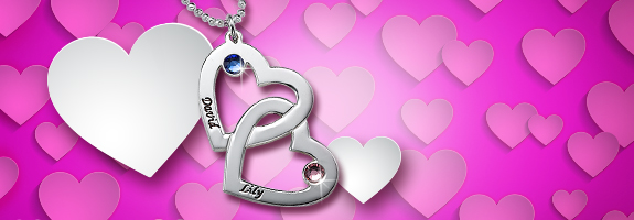 Show how you feel on Valentine's with personalised jewellery