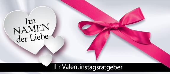 Im NAMEN der Liebe. Jetzt für Valentinstag shoppen!
