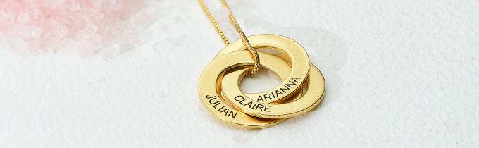 Pure Eleganz aus 585er Gold Namenskette