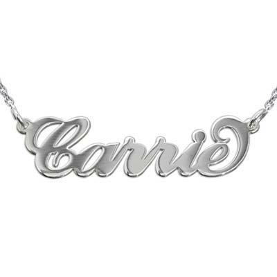 """Doppelstarke 925 Silber Namensketten im """"Carrie"""" Style"""