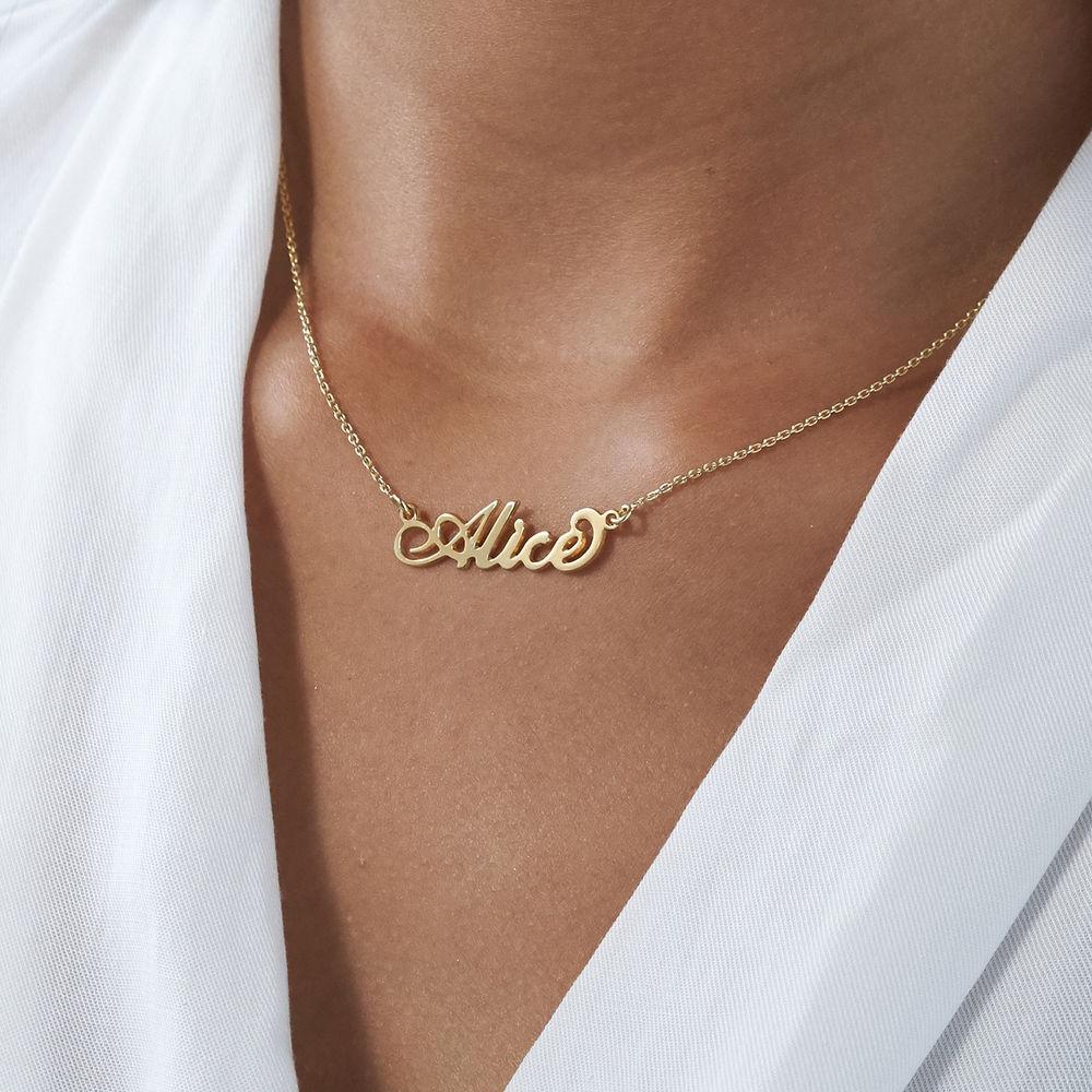 """Kleine """"Carrie"""" Namenskette aus 750er vergoldetem 925er Silber - 3"""