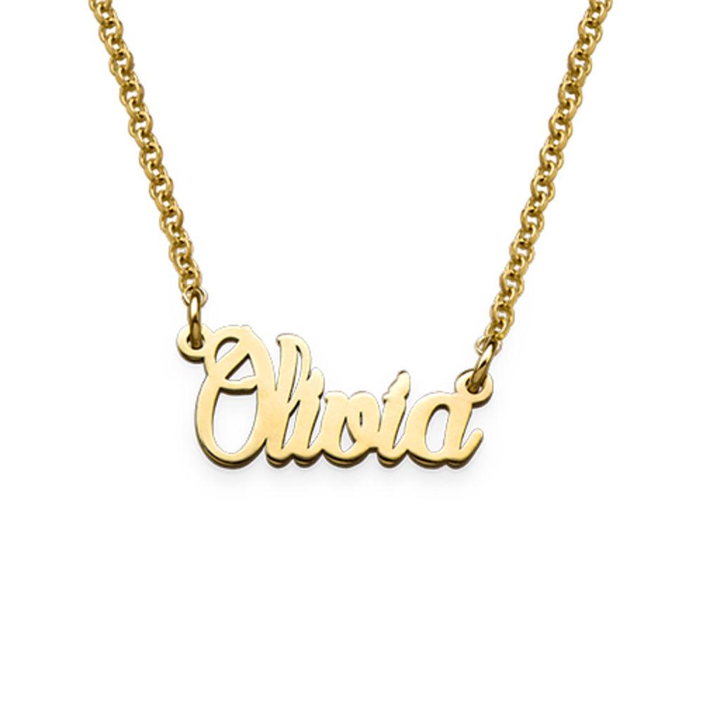 Zierliche Namenskette aus extra starken vergoldeten Silberr