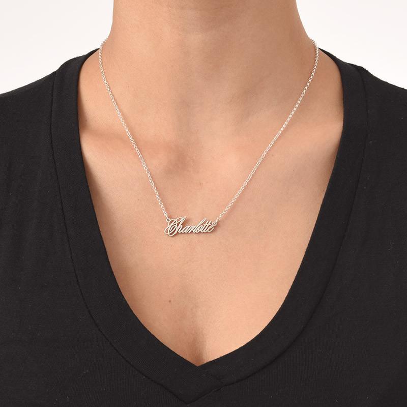 Zierliche extra starke Namenskette aus Silber - 2