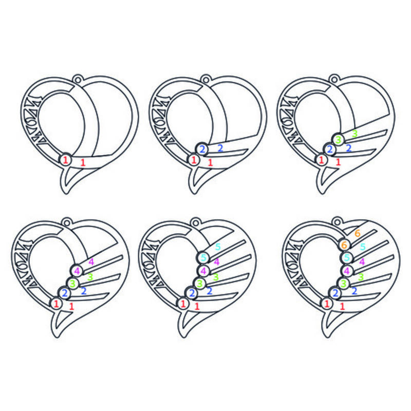 Gravierbare 585er Gold Geburtsstein Halskette für Mütter - 3