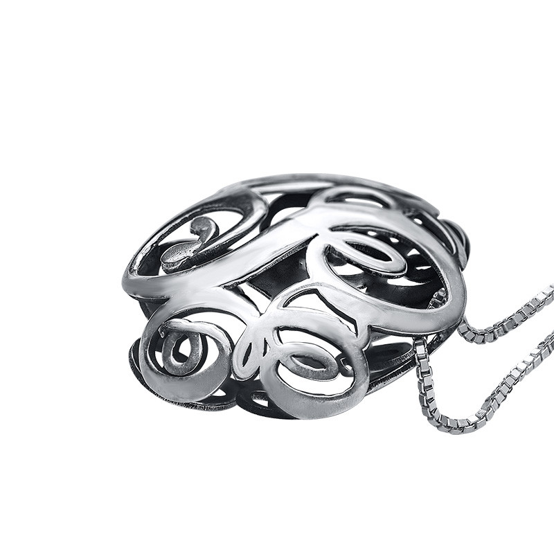 3D Monogramm Halskette - 1