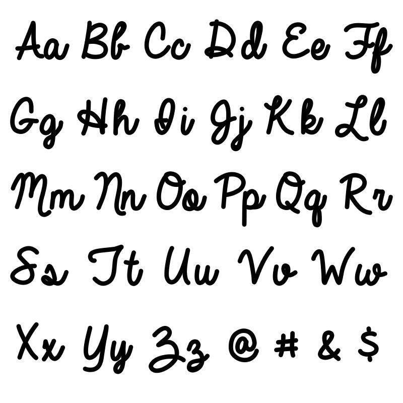 Personalisierte Namenskette mit Schreibschrift aus 417er-Weißgold - 3