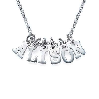 Buchstaben Namenskette aus Silber