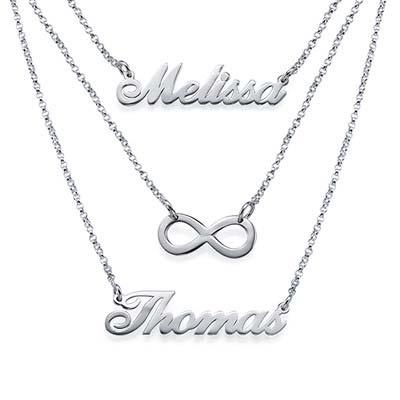 Gestufte Namenskette aus Silber