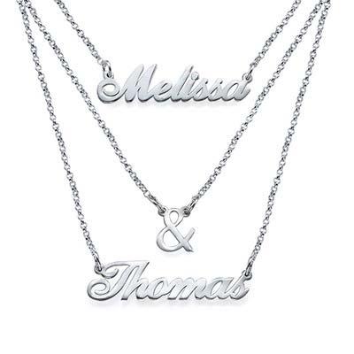 Gestufte Namenskette aus Silber - 2