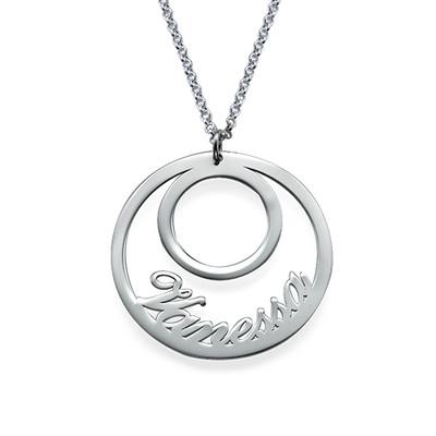 Runde Namenskette aus Silber
