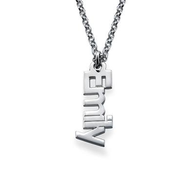 925er Silberkette mit senkrechten Namensanhängern - 1