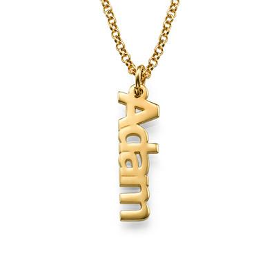 Vertikale Namenskette aus 18K vergoldeten Silber - 1