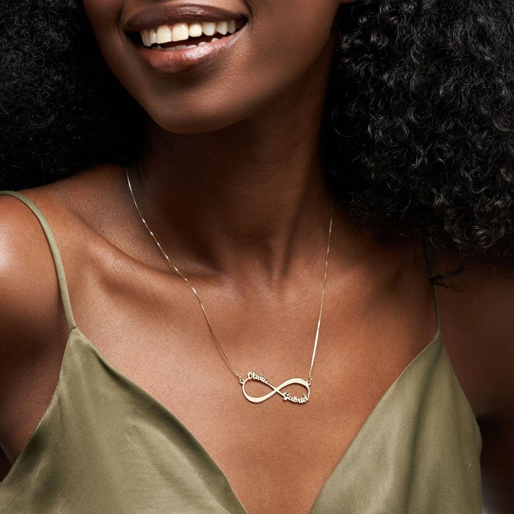 Infinity-Namenskette aus 585er Gold - 3