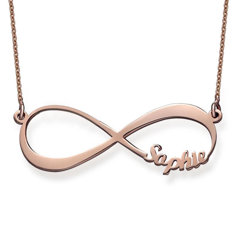 Rosé vergoldete Infinity Namenskette - 1