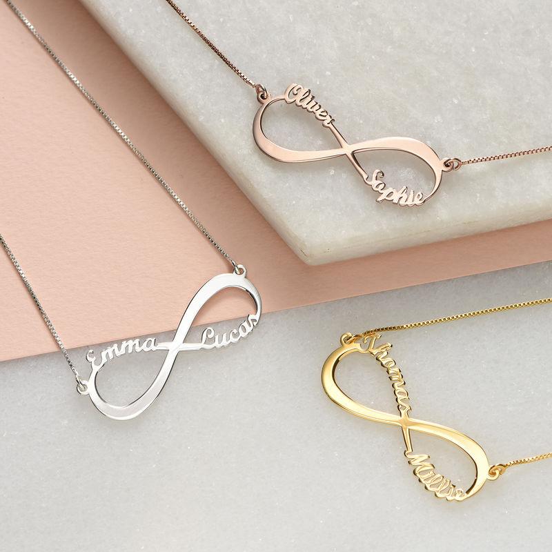 Rosé vergoldete Infinity Namenskette - 2