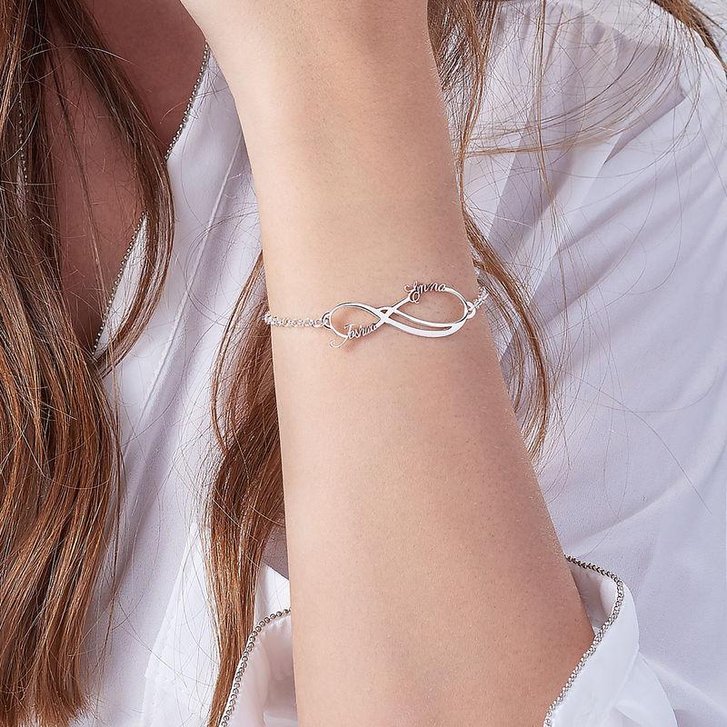 Infinity-Armband mit 2 Namen - 3
