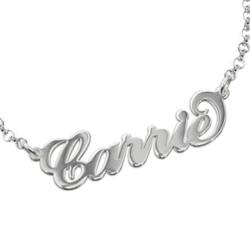 "925er Silber ""Carrie"" Style Namensarmband/ Fußkette - 1"