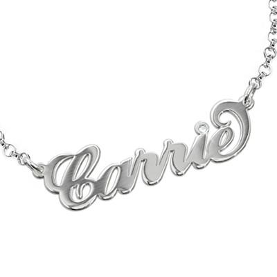 925er Silber Namensarmband/ Fusskettchen mit Swarovski Kristall