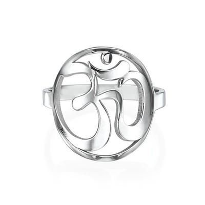 Om Ring aus Sterling Silber - 1