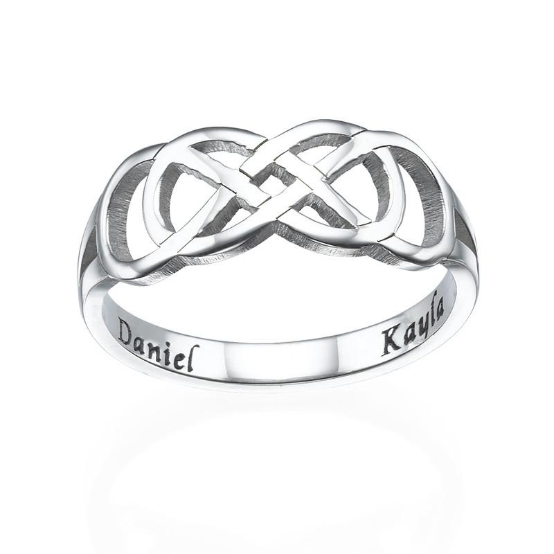 Doppel-Infinity-Ring mit Innengravur - 1