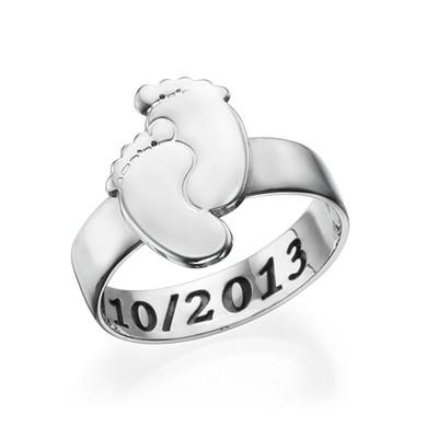 Gravierbarer Babyfüße-Ring
