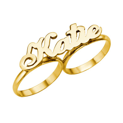 585er Gold 2 Finger Ring