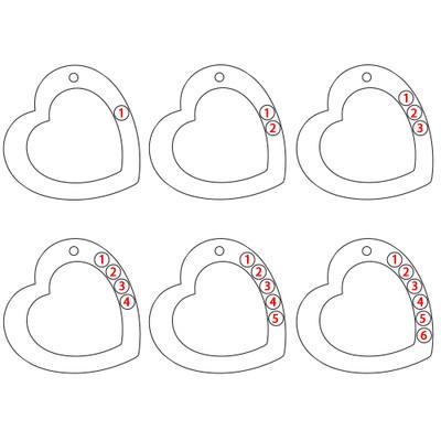 Familienherzkette mit Gravur und Geburtssteinen - 2