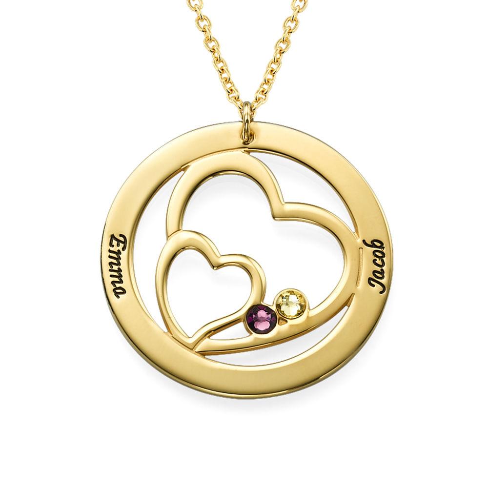 Vergoldete Herz in Herz-Kette für Mama mit Gravur - 1