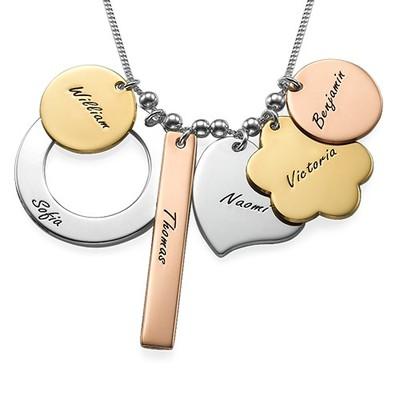 Personalisierte Mutterkette aus diversen Metallen