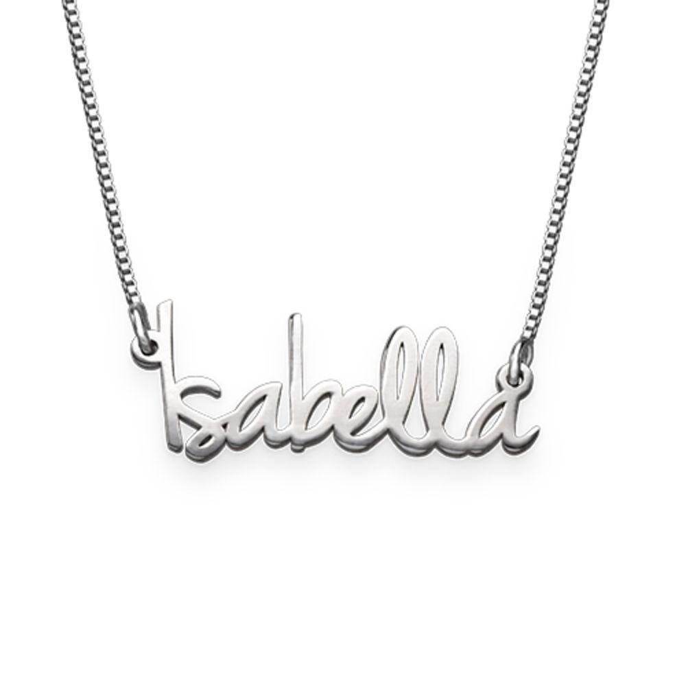 Zierliche Namenskette für Damen aus extra starken Silber