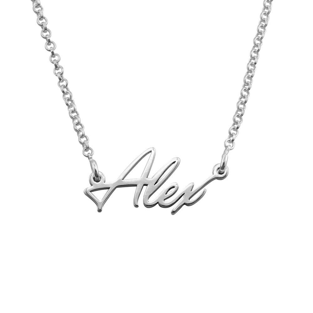 Winzige Namenskette aus Silber