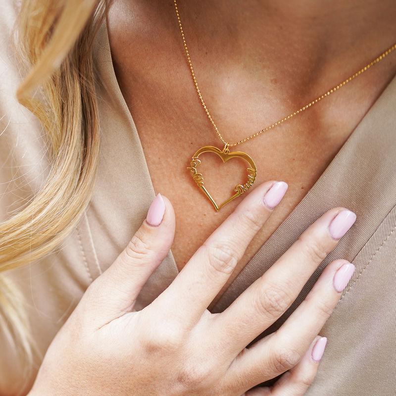 Individualisierbare Herzkette mit Vergoldung - 5