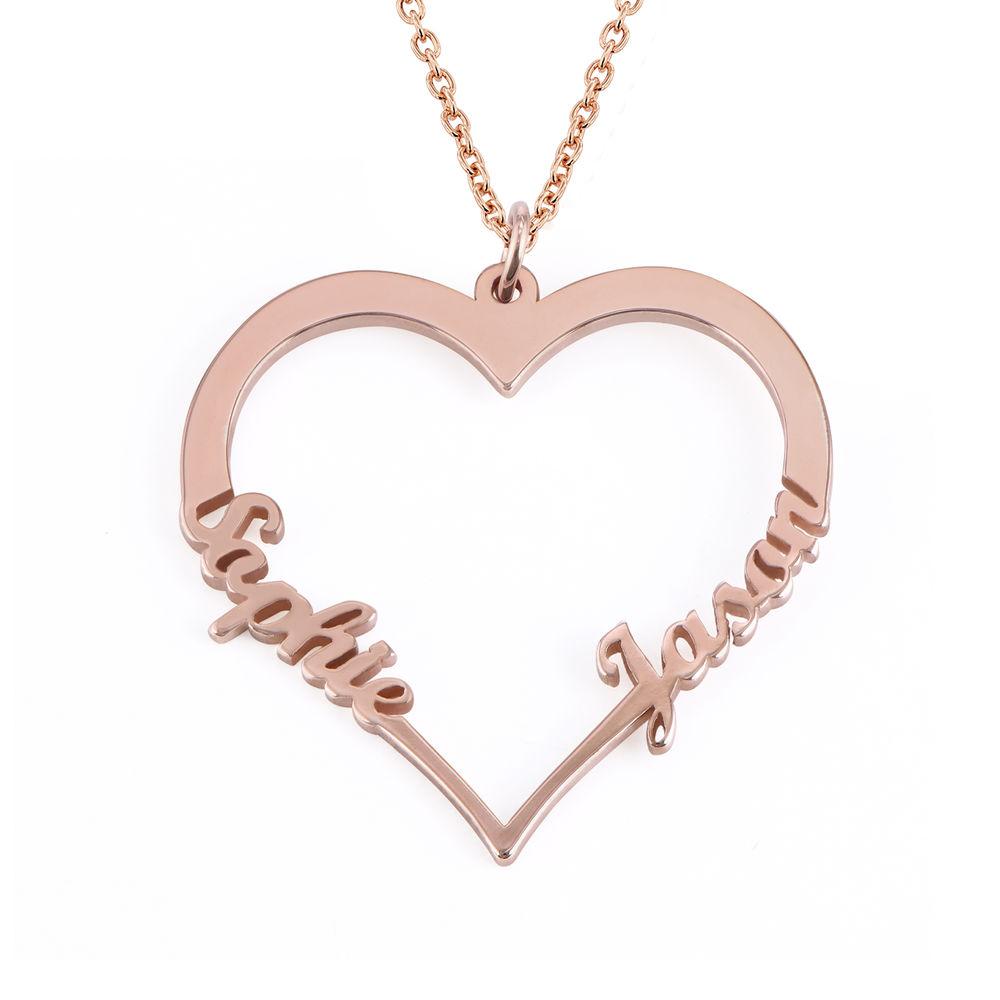 Individualisierbare Herzkette mit Rosévergoldung