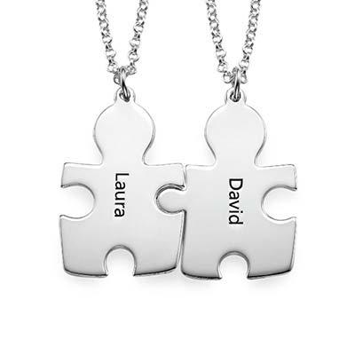 Gravierte Puzzleteile als Freundschaftskette - 1