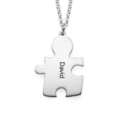 Gravierte Puzzleteile als Freundschaftskette - 2