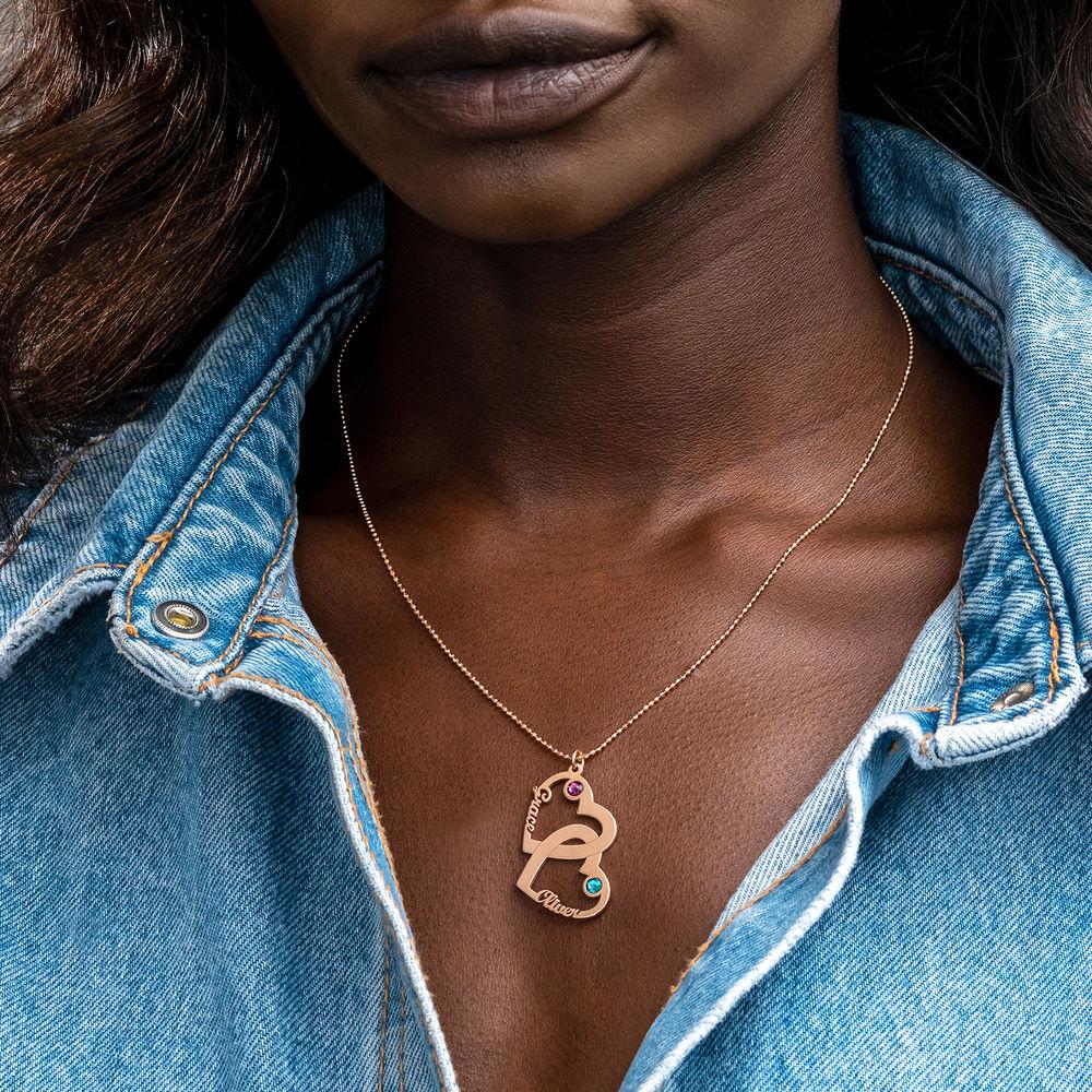 Herz in Herz Halskette aus Rosévergoldetes 925er Silber - Meine ewige Liebe Kollektion - 2