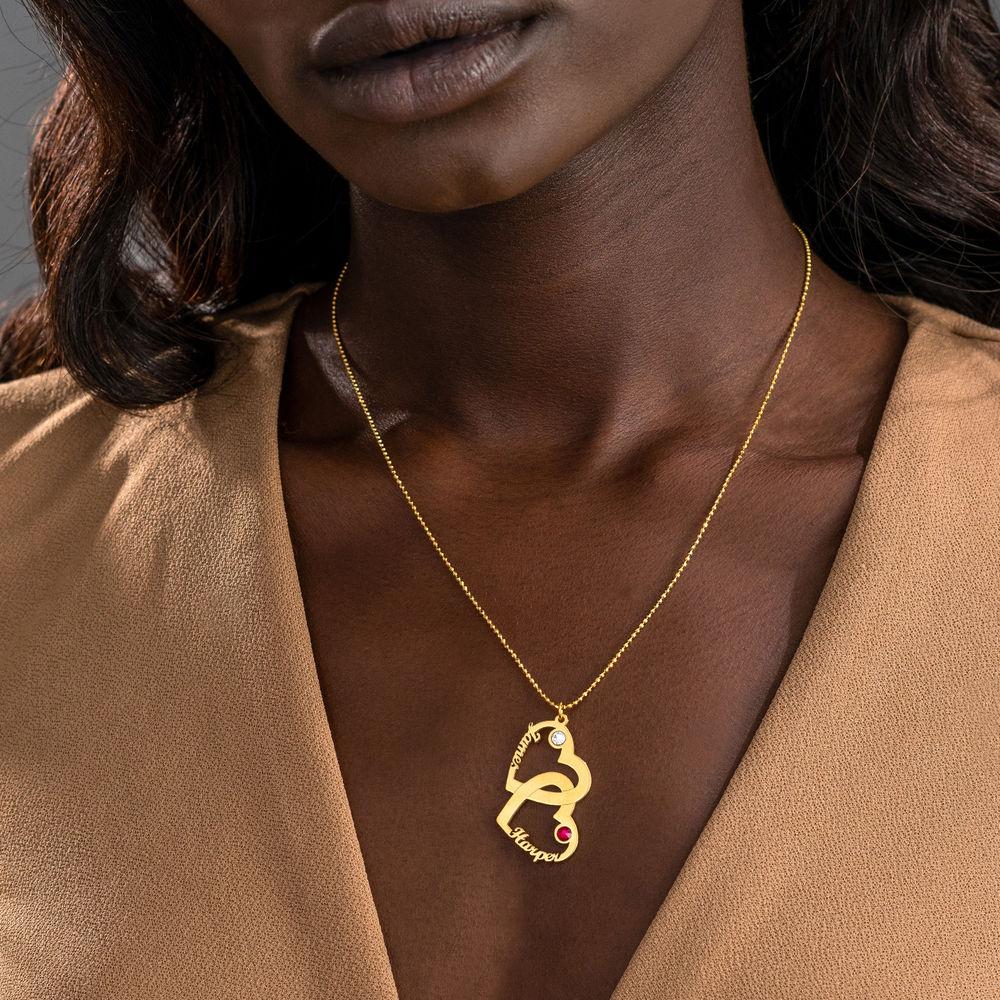 Herz in Herz Halskette - 750er Gold-Vermeil - Meine ewige Liebe Kollektion - 2