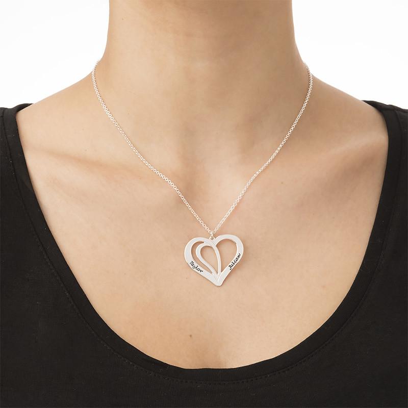 Gravierbare Pärchenkette aus Silber - 1