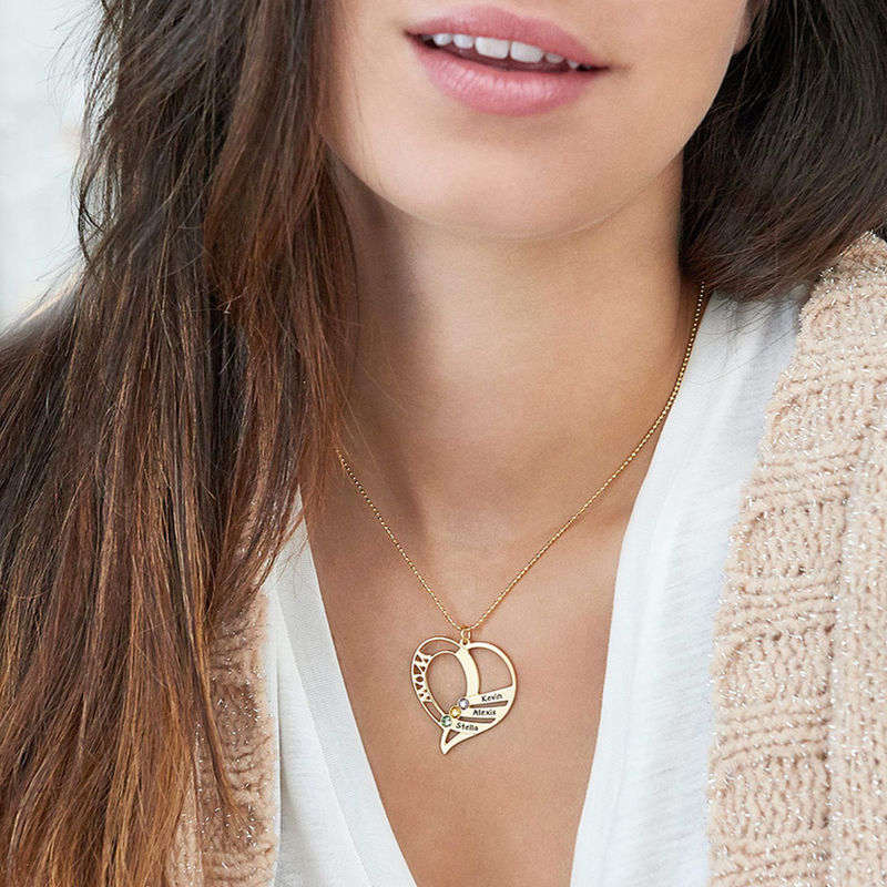 Vergoldete Geburtsstein Halskette für Mütter - 6