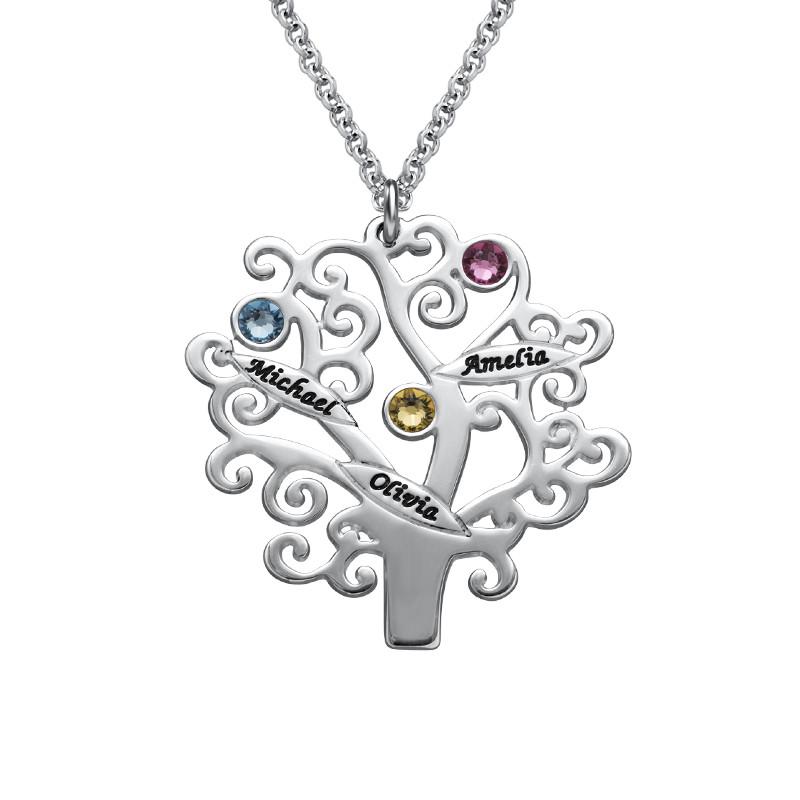 Familienstammbaum Halskette mit Geburtssteinen - 1